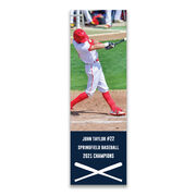 """Baseball 12.5"""" X 4"""" Removable Wall Tile - Personalized Photo"""