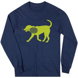 Tennis Tshirt Long Sleeve Dennis The Tennis Dog