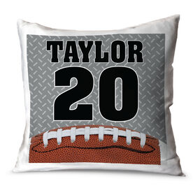 Football Throw Pillow Personalized Football Photo