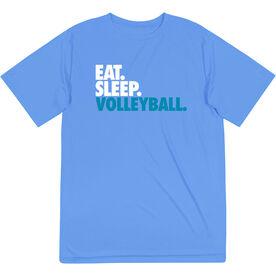 Volleyball Short Sleeve Performance Tee - Eat. Sleep. Volleyball.