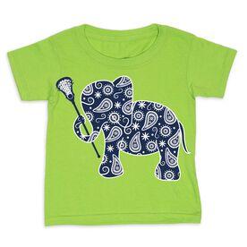 Girls Lacrosse Toddler Short Sleeve Tee - Lax Elephant