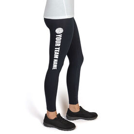 Volleyball High Print Leggings Team Name