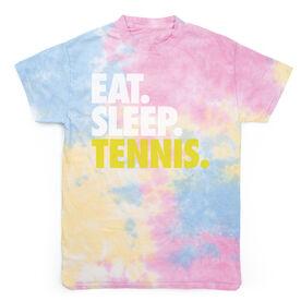 Tennis Short Sleeve T-Shirt - Eat. Sleep. Tennis Tie Dye