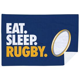 Rugby Premium Blanket - Eat. Sleep. Rugby. Horizontal