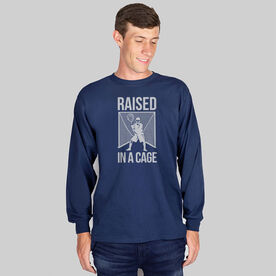 Guys Lacrosse Long Sleeve T-Shirt - Raised In a Cage
