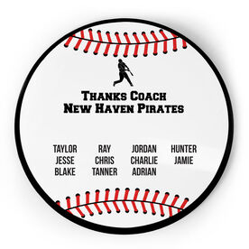 Baseball Circle Plaque - Team Roster