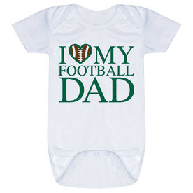 Football Baby One-Piece - I Love My Football Dad