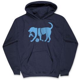 Volleyball Hooded Sweatshirt - Volley Ball Dog