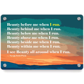 Running Metal Wall Art Panel - Beauty Before Me When I...