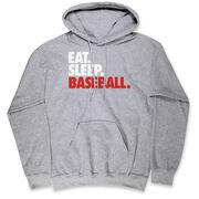 Baseball Hooded Sweatshirt - Eat. Sleep. Baseball.