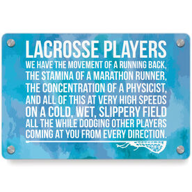 Girls Lacrosse Metal Wall Art Panel - Lacrosse Players