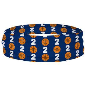 Basketball Multifunctional Headwear - Custom Team Number Repeat RokBAND