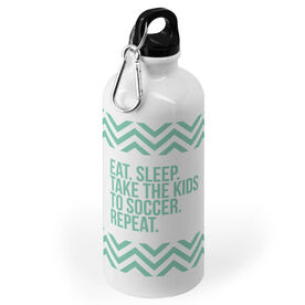 Soccer 20 oz. Stainless Steel Water Bottle - Eat Sleep Take The Kids To Soccer