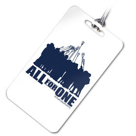 Lacrosse Bag/Luggage Tag All for One (Blue)