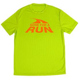 Men's Running Short Sleeve Tech Tee  Gone For a Run Logo (Orange)