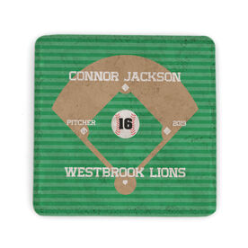 Baseball Stone Coaster - Personalized Team