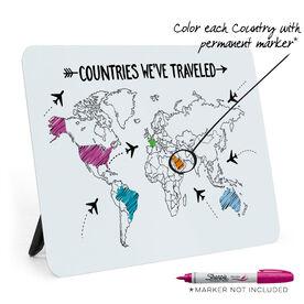 Desk Art - Countries We've Traveled Outline