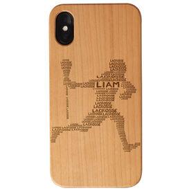 Guys Lacrosse Engraved Wood IPhone® Case - Words