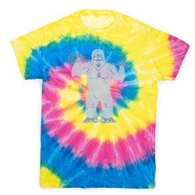 Guys Lacrosse Short Sleeve T-Shirt - Lacrosse Yeti Tie Dye