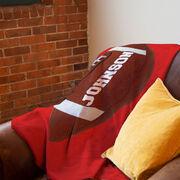 Football Premium Blanket - Personalized Big Name