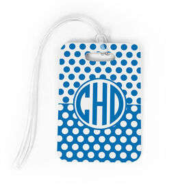 Personalized Bag/Luggage Tag - Circle Monogram with Dots