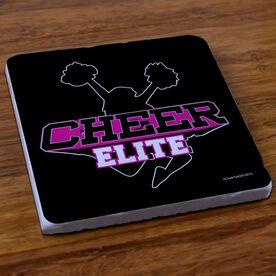 Cheerleading Stone Coaster Custom Cheer Logo