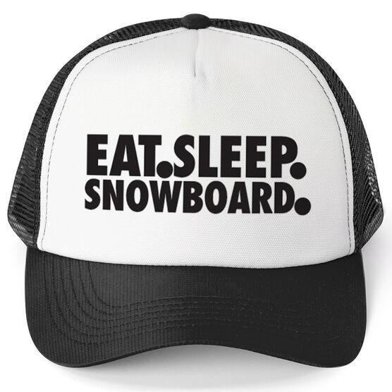 Snowboarding Trucker Hat - Eat Sleep Snowboard