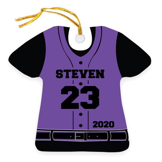 Baseball Ornament - Personalized Jersey