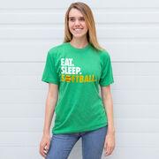 Softball T-Shirt Short Sleeve Eat. Sleep. Softball.