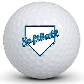 Softball Plate Golf Balls