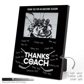 Hockey Vertical Top Picture Photo Frame - Coach (Autograph)