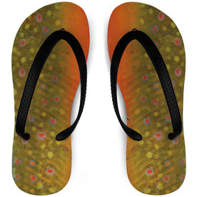 Fly Fishing Flip Flops Brook Trout