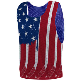Hockey Pinnie - USA Hockey Flag