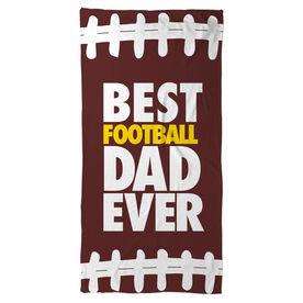 Football Beach Towel Best Dad Ever