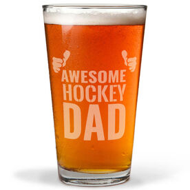 16 oz. Beer Pint Glass Awesome Hockey Dad