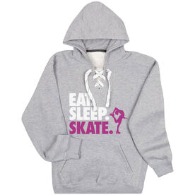 Figure Skating Sport Lace Sweatshirt Eat. Sleep. Skate.