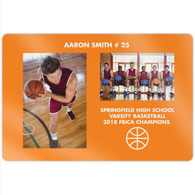 "Basketball 18"" X 12"" Aluminum Room Sign - Player and Team Photo"