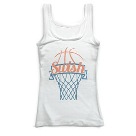 Basketball Vintage Fitted Tank Top - Swish