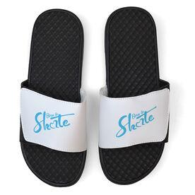 Figure Skating White Slide Sandals - Born to Skate