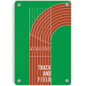 Track and Field Metal Wall Art Panel - Track and Field Lanes