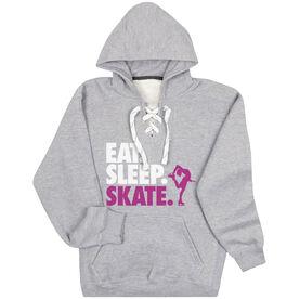 Figure Skating Sport Lace Sweatshirt Eat. Sleep. Skate.
