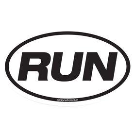 Run Car Magnet - White