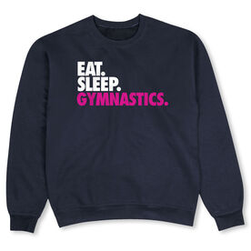 Gymnastics Crew Neck Sweatshirt - Eat Sleep Gymnastics
