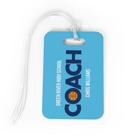 Basketball Bag/Luggage Tag - Personalized Coach