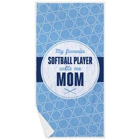 Softball Premium Beach Towel - My Favorite Player
