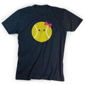 Tennis Tshirt Short Sleeve Tennis Ball Smile (Girl)