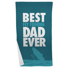 Fly Fishing Beach Towel Best Dad Ever