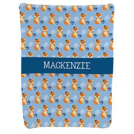 Cheerleading Baby Blanket - Cheerleading Fox Pattern