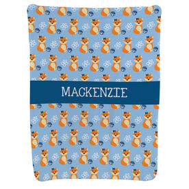 Cheerleading Baby Blanket - Cheerleading Fox Pattern