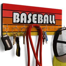 Baseball Hook Board Baseball Retro Sunrise
